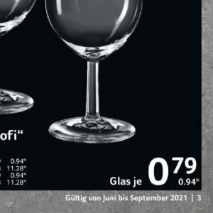 Glas bei Selgros