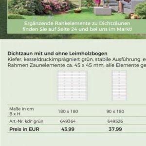 Zaunelemente bei BBM Baumärkte