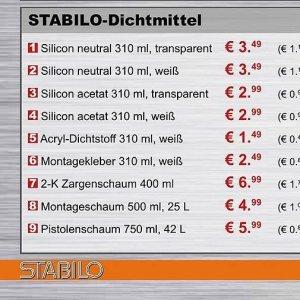 Montageschaum bei Stabilo