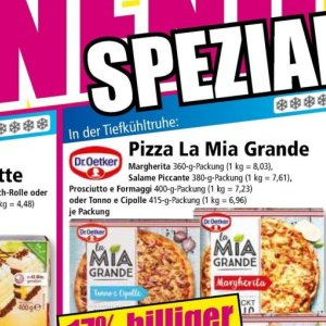 Pizza bei Norma