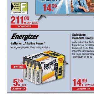 Batterien bei V-Markt